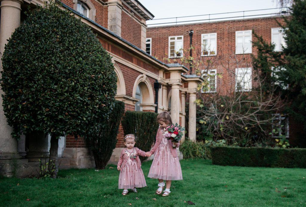 children enjoying themselves at covid micro wedding
