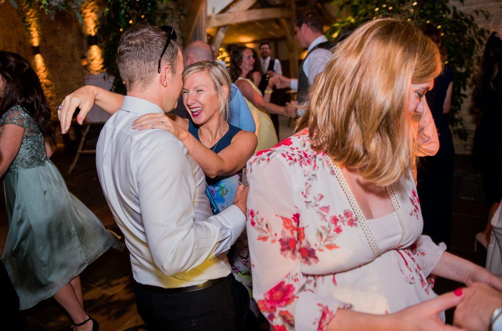 dancing guests enjoying themselves on the dance floor